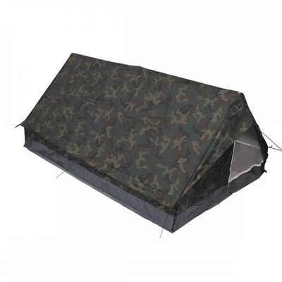 MFH Firstzelt »Zelt, Minipack, woodland, Gr. 213x137x97cm, Moskitonetz«