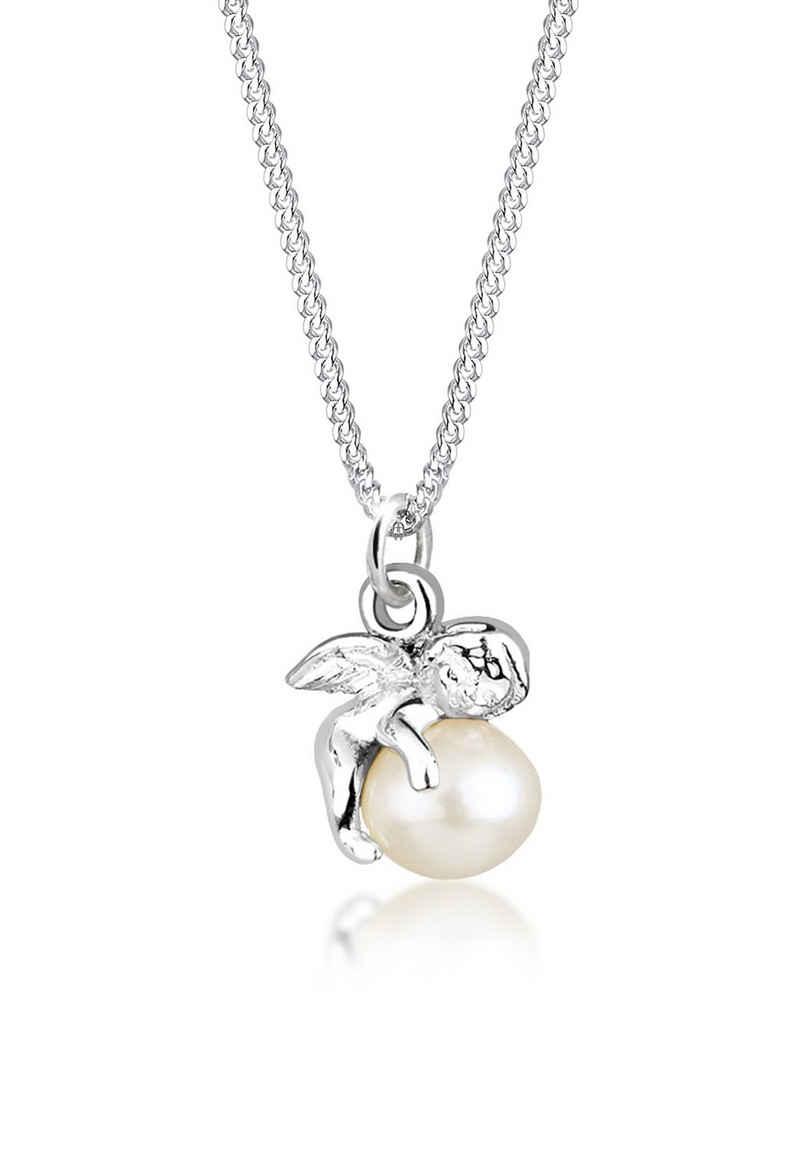 Elli Perlenkette »Anhänger Engel mit Süßwasserzuchtperle 925 Silber«