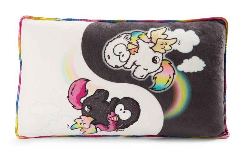 Nici Dekokissen »Einhorn Dekokissen Regenbogen Yin & Yang«