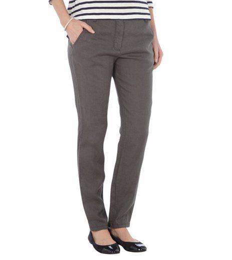 Marc O'Polo Leinenhose »Marc O´Polo Leinenhose luftige Damen Hose mit französischen Eingrifftaschen Stoff-Hose Grau«