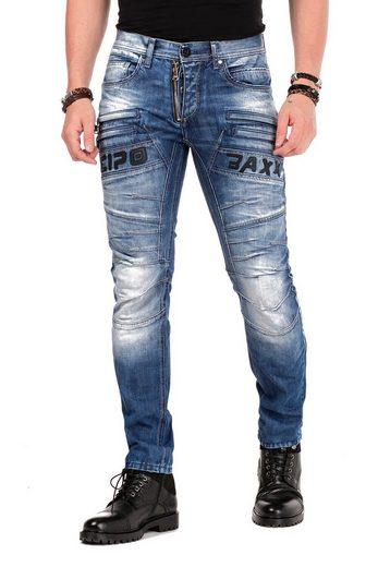 Cipo & Baxx Slim-fit-Jeans »Seek« mit dekorativer Reißverschluss