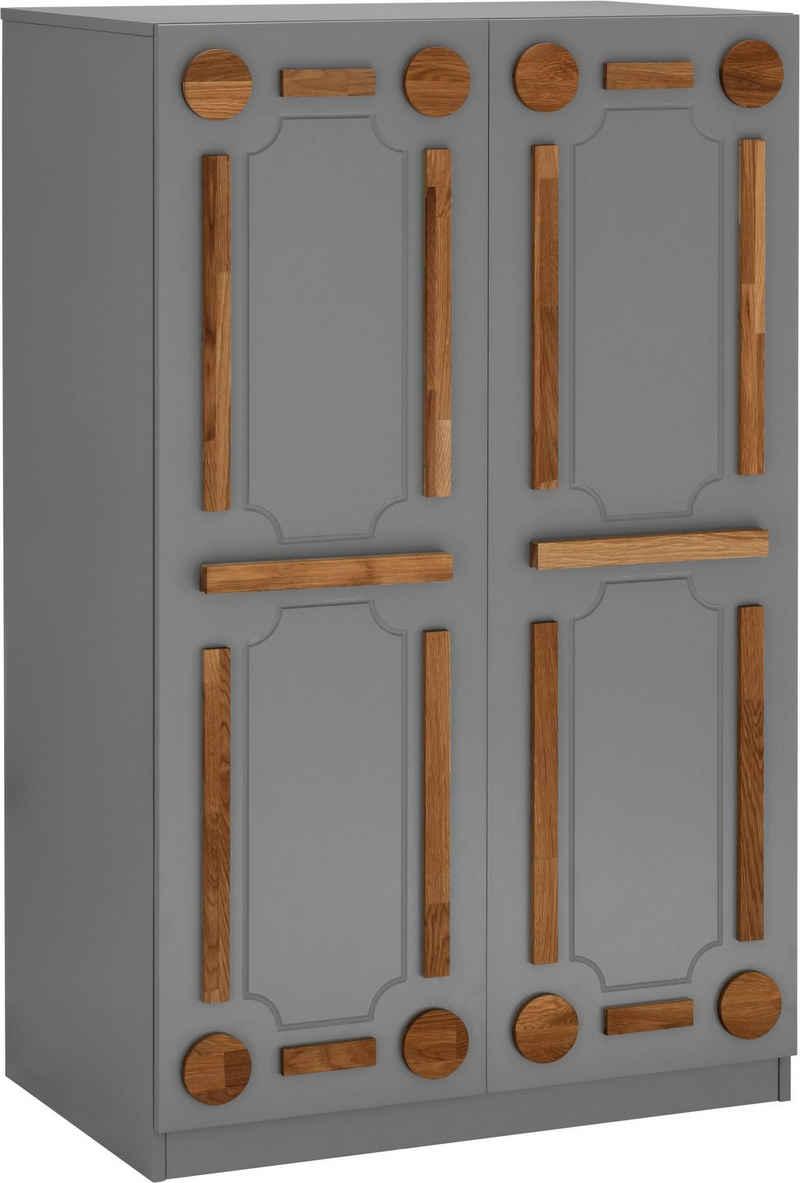 Places of Style Computerschrank »Rami« aus MDF kombiniert mit Eiche massiv, Soft-Close-Funktion