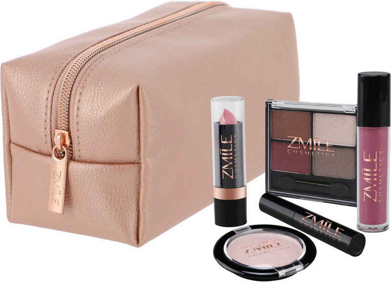 ZMILE COSMETICS Kosmetik-Koffer »Beauty in the bag! Roségold«, 10-tlg.