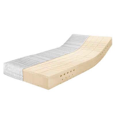 Latexmatratze »Latexmatratze Premium TALALAY®«, Ravensberger Matratzen, 23 cm hoch, (Set), Härtegrad H 2 + H 3 (RG 66) 90x200 cm mit Baumwoll-Doppeltuch Bezug