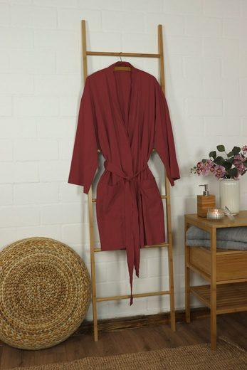 Kimono »Lissabon Kimono Bademantel One-Size 36-42, 100% Baumwolle«, jilda-tex
