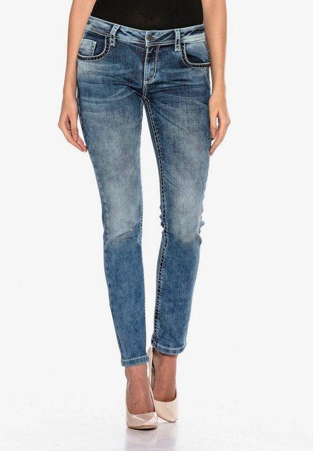 Hosen - Cipo Baxx Slim fit Jeans mit bestickten Gesäßtaschen in Skinny Fİt ›  - Onlineshop OTTO