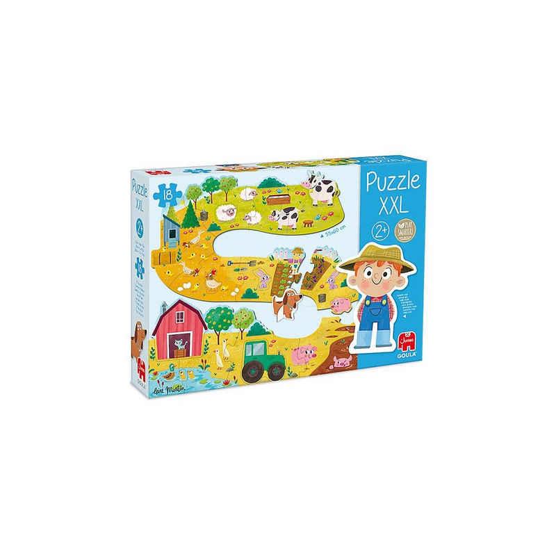 Goula Puzzle »GOULA XXL-Puzzle Bauernhof«, Puzzleteile