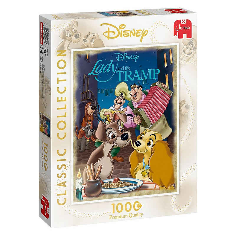 Jumbo Puzzle »Disney Classic Collection Susi & Strolch - 1000«, Puzzleteile
