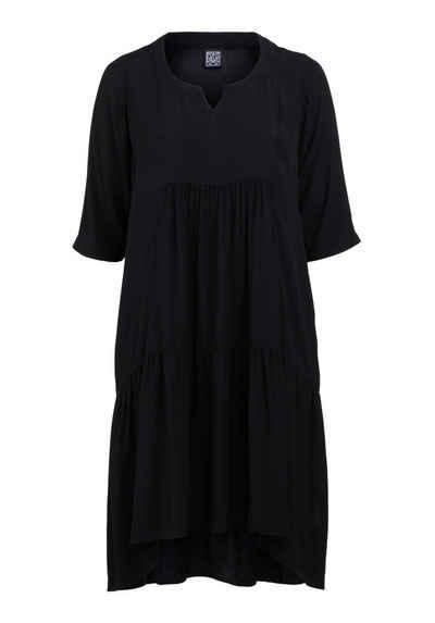 Pont Neuf Midikleid »Rigmor« Pont Neuf bequemes A-Linien-Kleid mit Volant und Seitentaschen