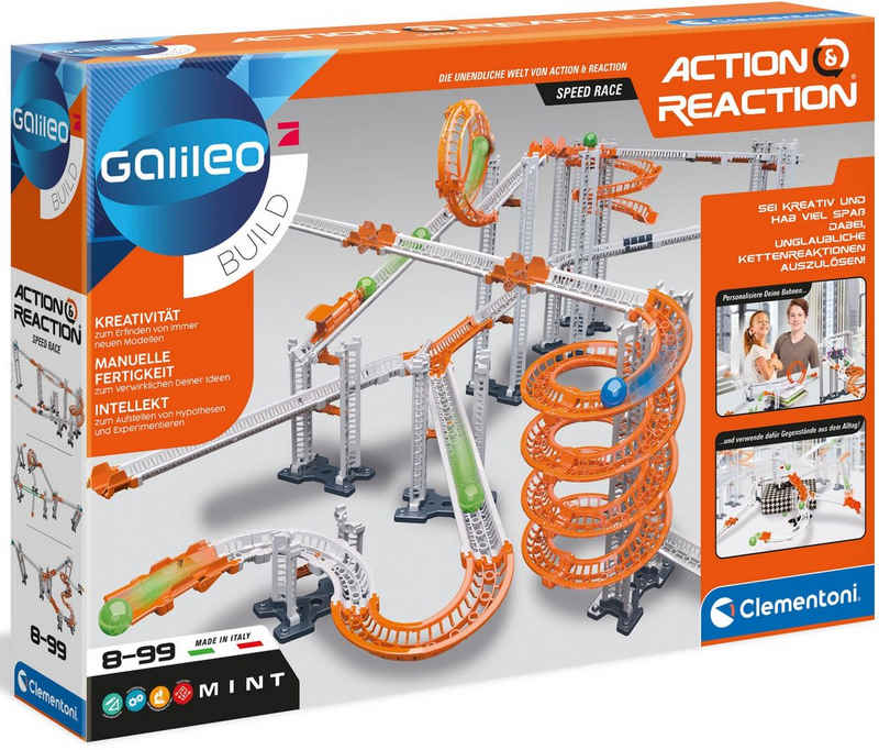 Clementoni® Experimentierkasten »Galileo Action & Reaction - Speed Race«, Made in Europe