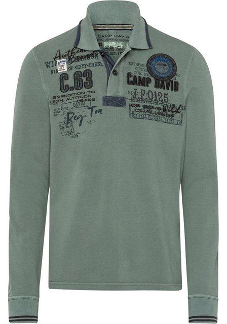 CAMP DAVID Langarm-Poloshirt | Bekleidung > Shirts > Langarm Shirts | camp david