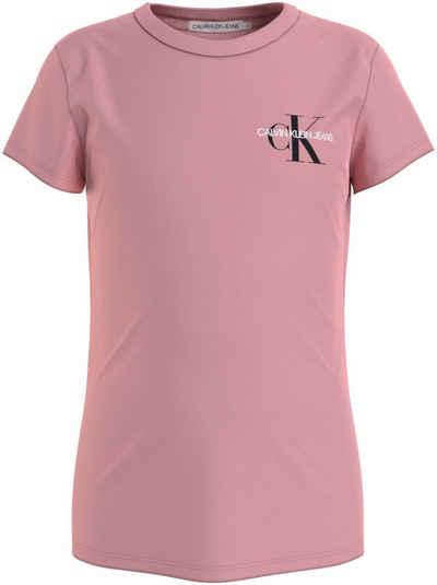 Calvin Klein Jeans T-Shirt »CHEST MONOGRAM TOP« Basicform mit Logo