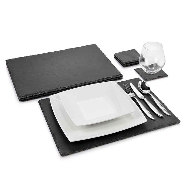 Platzset, »Dinner«, SÄNGER, (8-St), Rustikales Design,Bruchkante