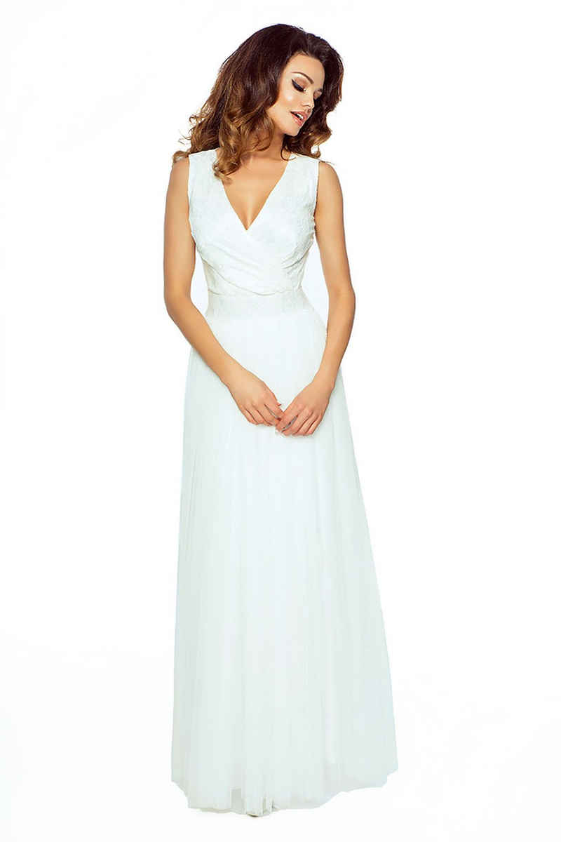 VictoriaV Abendkleid »Abendkleid mit Tüll und Spitze« Bodenlang