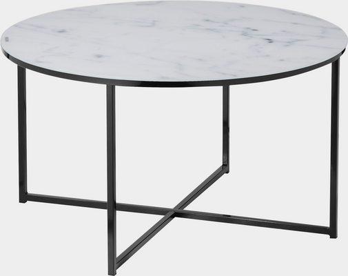 Couchtisch, Tischplatte in Marmoroptik