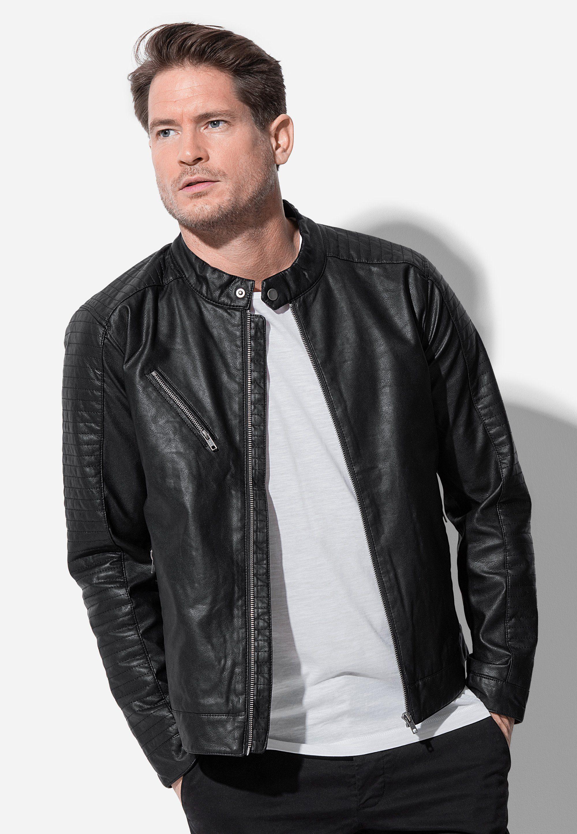 Stedman Biker Jacke in Lederoptik, Lässige Biker Jacke der Marke Stedman für Herren online kaufen | OTTO