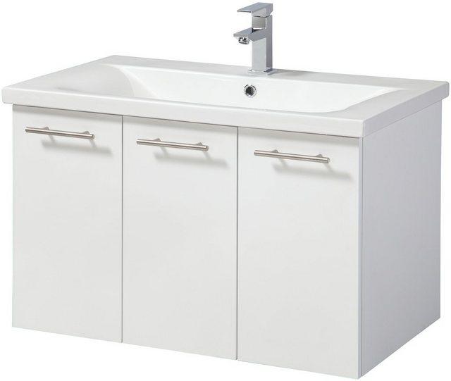 Waschtische - WELLTIME Waschplatz Set »Lugo«, Premium Waschtisch, Breite 80 cm, 2 tlg., 3 Türen  - Onlineshop OTTO