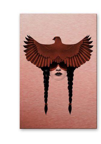 Wall-Art Metallbild »Adler Dark Cardinal Metall...