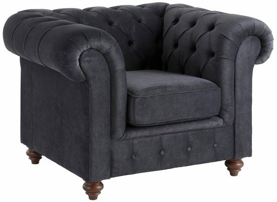 Premium collection by Home affaire Sessel »Chesterfield«, mit Knopfheftung, auch in Leder