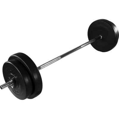 MOVIT Langhantel »Movit® Langhantel Set 30 kg, Stange verchromt«, 30,00 kg, (mit Langhantelstange), gerändelt mit Sternverschlüssen