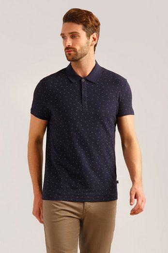 Finn Flare Poloshirt mit tollem Allover-Druck
