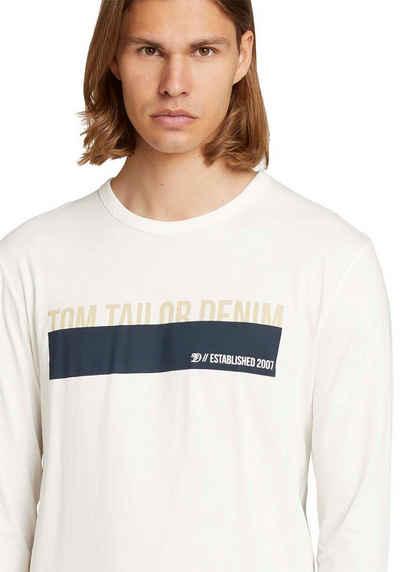 TOM TAILOR Denim Langarmshirt mit Logodruck