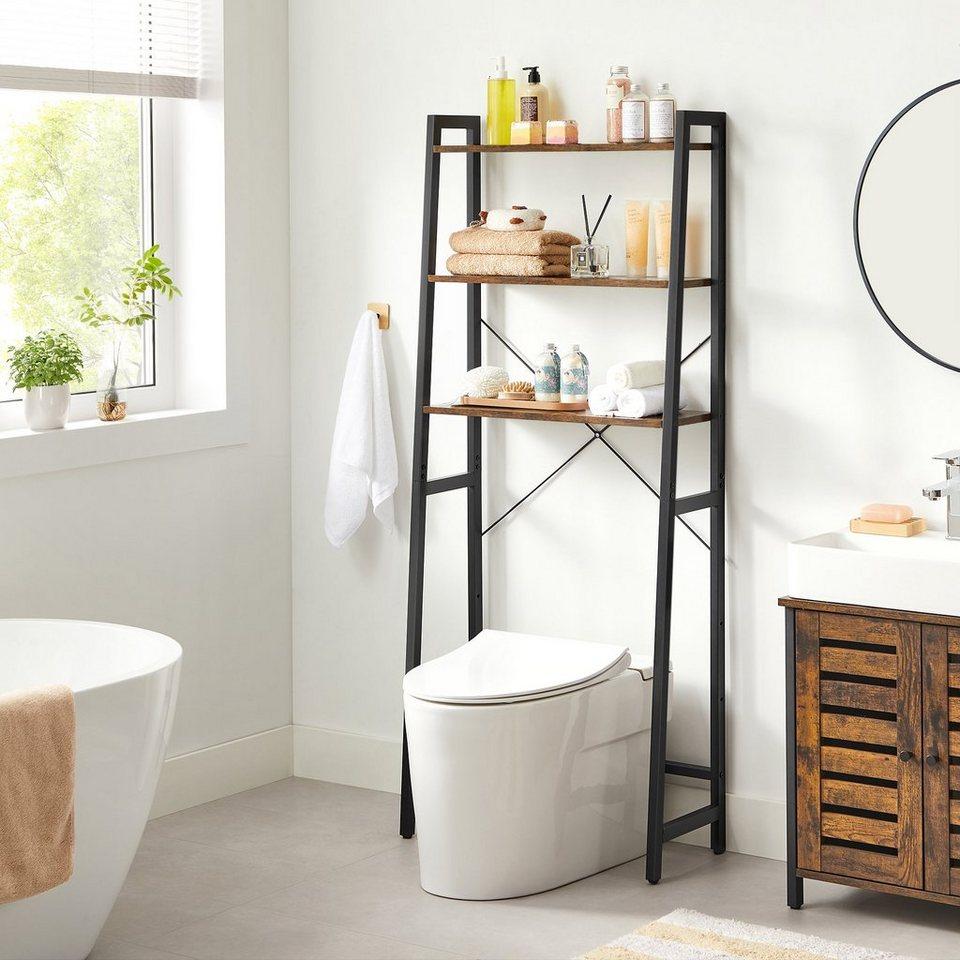 VASAGLE Badregal »BTS20B20«, Toilettenregal mit 20 Ebenen, Stahlgestell,  Badezimmer, Industrie Design, vintage online kaufen   OTTO