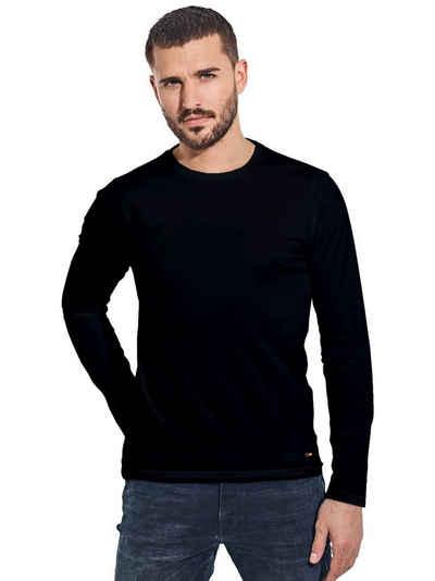 emilio adani Langarmshirt »Rundhals Shirt«