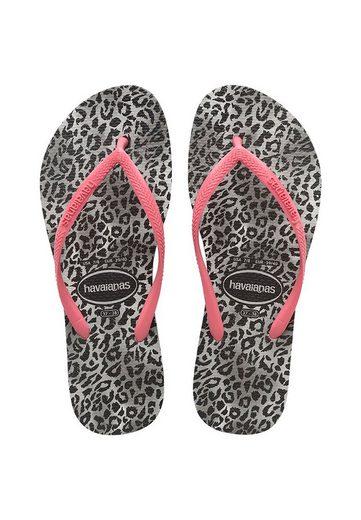 Havaianas »havaianas Damen Zehentrenner SLIM LEOPARD FC 4145480 0090 Mehrfarbig Leopard Rosa« Zehentrenner