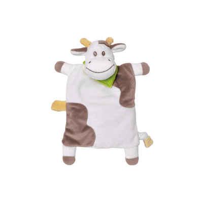 Hirsekörnerkissen, »Welliebellies Schmusetuch Kuh - Schmusen, trösten, kühlen & wärmen in einem«, Welliebellies, Wärme zum Liebhaben, geeignet für Mikrowelle und Backofen + extra Kühlkompresse zum Kühlen
