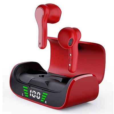 QUOA »In Ear Earbuds TWS K28 Headset« Bluetooth-Kopfhörer (Bluetooth 5.0, Kabellose Ohrhöhrer mit Mikrofon)