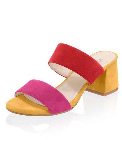 Alba Moda Pantolette im Colour-Blocking-Look