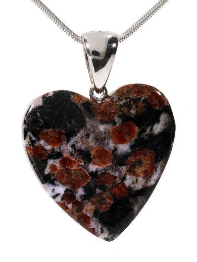 Adelia´s Kettenanhänger »Herz Granat Anhänger 925 Silber«