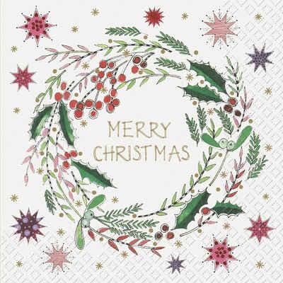 stewo Papierserviette »Classic Christmas«, (5 St), 33 cm x 33 cm
