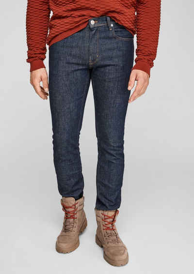 s.Oliver 5-Pocket-Jeans »Slim: Slim leg-Jeans« Leder-Patch
