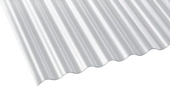 GUTTA Wellplatte Polycarbonat klar, BxL: 90x600 cm