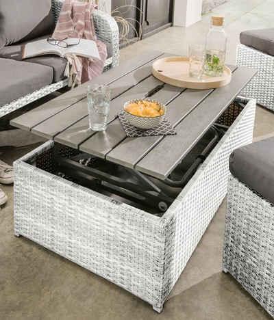 Destiny Balkonset »Jersey II«, (10-tlg), Lounge-Set mit Polsterauflagen, höhenverstellbarer Tisch 22-55 cm