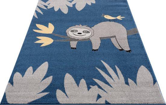 Kinderteppich »Faultier«, Lüttenhütt, rechteckig, Höhe 14 mm, weiche Haptik