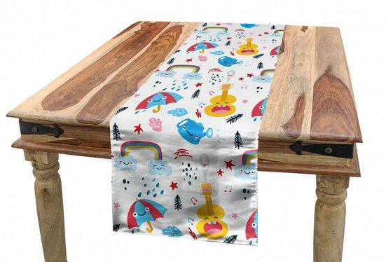 Abakuhaus Tischläufer »Esszimmer Küche Rechteckiger Dekorativer Tischläufer«, Kindergarten Fun Graphics Nursery Theme