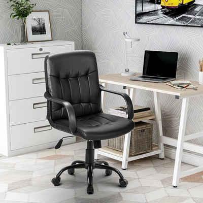 Merax Chefsessel »Odin«, Bürostuhl Chefsessel Schreibtischstuhl, Kunstleder, gepolstert