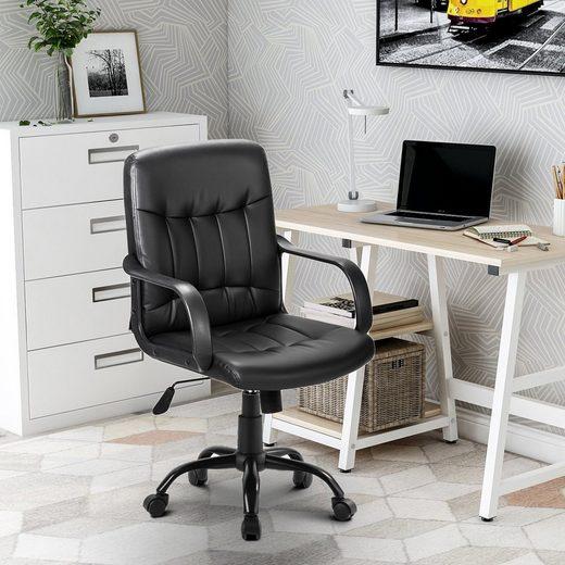 Merax Chefsessel »Odin« (Packung), Bürostuhl Chefsessel Schreibtischstuhl, Kunstleder, gepolstert