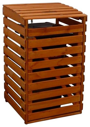 PROMADINO Mülltonnenbox , für 1x240 l aus Holz, B/T/H: 67/90/122 cm
