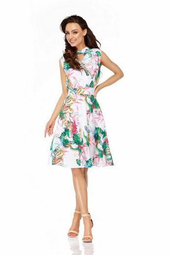 lemoniade Sommerkleid mit lebhaftem Allover-Print