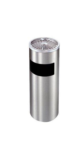 Lüllmann Aschenbecher »Standaschenbecher 30L Edelstahl Ascher verzinkt mit Mülleimer 60x25cm«, Der Aschenbecher hat einen robusten, integrierten Mülleimer - Der Standaschenbecher ist wetterfest