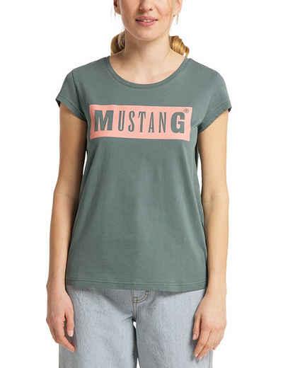 MUSTANG T-Shirt »Alina C Logo Tee« Kurzarm