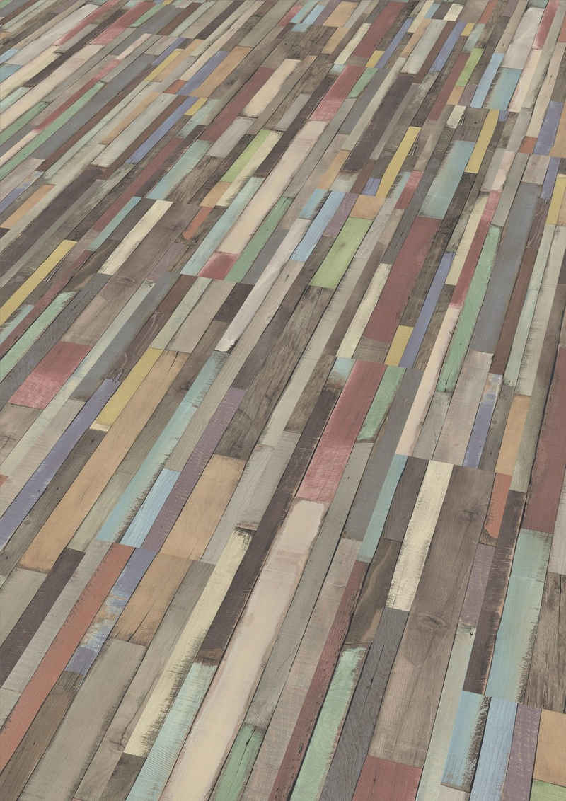 EGGER Laminat »EHL008 Dimas Wood bunt«, Vintageoptik, universell einsetzbar, 7mm, 2,494m²