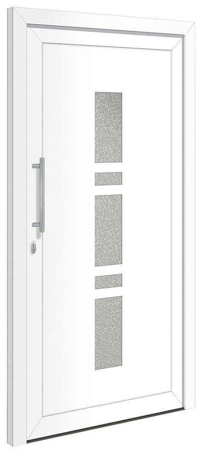 RORO Türen & Fenster Haustür »OTTO 19«, BxH: 100x210 cm, weiß, ohne Griffgarnitur