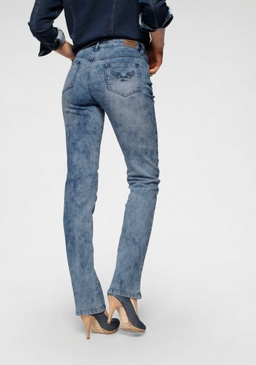 Arizona Gerade Jeans »Comfort-Fit« Moonwashed Jeans