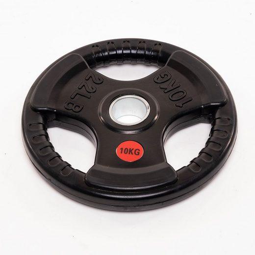 Technofit Hantelscheiben »Hantelscheiben 2x 10 kg schwarz gummiert für 50 mm Hantelstangen«