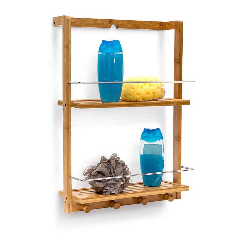 relaxdays Duschregal »Duschregal Bambus 2 Ablageböden«